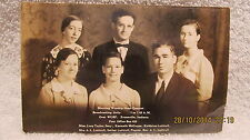 Vtg. Postcard Morning Worship Hour Quartet Luttrull Family WGBF Radio Evansville