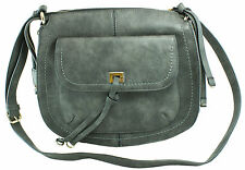 Saint Sabrina Brazen Saddle Bag Security Handbag – Grey