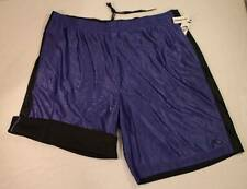 NEW Mens Athletic Shorts 2XL Reversible Silky Blue Mesh Black Basketball Workout
