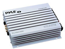 Pyle PLMRA400 4 Channel 400 Watt Waterproof MP3 Marine Car Power Amplifier