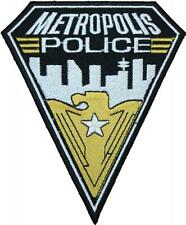 Smallville Superman Metropolis Police Badge Embroidered Patch 14cm