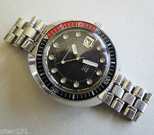 VINTAGE BULOVA OCEANOGRAPHER SNORKEL 666 FEET MENS DIVER WATCH 1970 AUTOMATIC