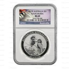 2013P australien argent Kookaburra 1oz ngc MS69 classé dalle coin