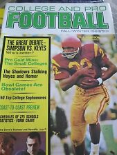 1968 College and Pro Football Magazine O.J. Simpson Cover