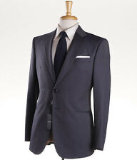 NWT $3195 GIORGIO ARMANI BLACK LABEL 'Taylor' Slate Blue Wool-Silk Suit 38 R