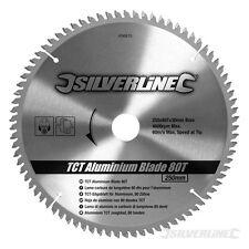 Silverline Hartmetall-Sägeblatt für Aluminium, 80 Zähne 250 x 30, Reduzierstücke