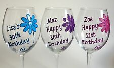 Personalised Birthday Gifts 18th 21st 30th.. Girls Friends Wine Champagne Glass