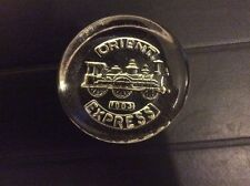 ORIENT EXPRESS LIMITED EDT DARTINGTON CRYSTAL GLASS PAPER WEIGHT FRANK THROWER