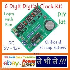 E36 DIY 6 Digit Electronic LED Digital Clock Kit with onboard Battery Backup