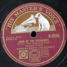 78rpm WEBSTER BOOTH song of the vagabonds / one alone