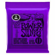 Ernie Ball 3 Pack Power Slinky Nickel Wound Electric Guitar Strings Gauge 11-48