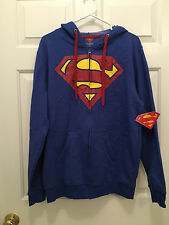 NWT Men's DC Comics Superman Clark Kent Full Zip Hoodie Hoodie Jacket Medium