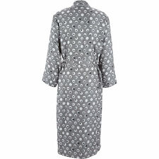 Dolce & Gabbana Men's Silk Designer Robe Dressing Gown Grey White / Small 38""