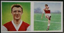 Arsenal  Tommy Docherty  Vintage Double Picture  Colour  Footballer Card  EXC