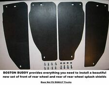 Ford 1999-2012 F250 F350 Rear Single Wheel Inner Splash Shields set of 4