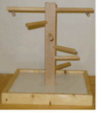 Parrot Perch Pet Bird Perch Mobile Table Top Wood Playstand