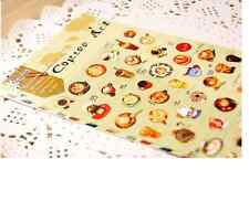 1 sheet korean lovely stickers scrapbook Paper dishes food drink coffee