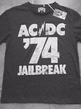 Amplified ACDC 1974 Jail Break Tour Mens T-shirt Small, Xlarge