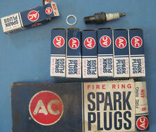 7 New old Stock AC Spark plugs 45N nice and clean