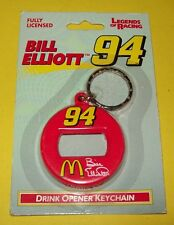 Bill Elliott Vintage Keychain Bottle Can Opener #94 McDonald's 1997 NOS