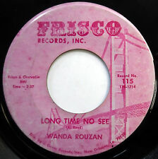 WANDA ROUZAN 45 Long Time No See / Here's A Letter.. SOUL New Orleans NOLA e5084