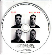 GOOSE What You Need 2017 UK 12-trk promo test CD