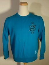 Rare Stussy Sweatshirt L Vintage International Tribe Skate Board Surf Teal