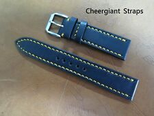 IWC dark blue & black leather watch strap band samples Cheergiant straps