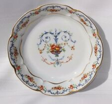HAVILAND France LIMOGES Porcelain Soup Bowl Roses Flower Basket Garlands Scrolls