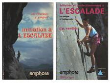 2 Livres sur L'Escalade Initiation et Perfectionnement FLEURANCE GSEGNER VERDIER