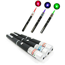 3PCS Powerful 5MW Green + Blue Violet + Red Light Beam Laser Pointer Pen Visible
