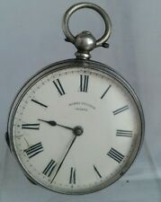 Antique solid silver ladies Henry Touchon Geneve  pocket watch c1900