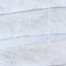 "Sterling Silver | ITALY 1mm Cable Chain 1g | Necklace (18"") JY7253"