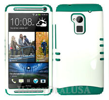 KoolKase Hybrid Silicone Cover Case for HTC One Max T6 - White (P)