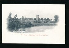 Worcestershire Worcs EVESHAM Tower Churches Rowing boat  c1900s PPC