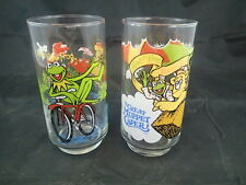 McDonalds' The Great Muppet Caper 1981 Collectors Glasses Lot Of Two Kermit Frog
