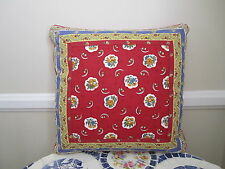 Gorgeous Accent Pillow Pierre Deux Red Avignonet French Country Toile Fleur