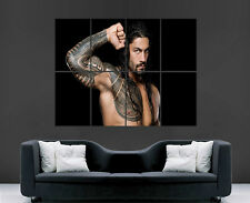 WWE ROMAN REIGNS POSTER WRESTLING WALL TATOO ART PICTURE PRINT LARGE  HUGE