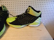 Men's adidas No Mercy Basketball Shoes - D73661 size 8.5 black white lime green