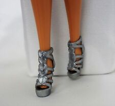 Fashionista Barbie Doll Sliver strappy shoes