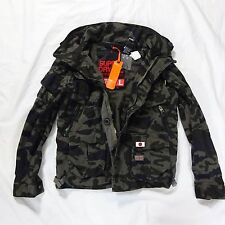 NEW SUPERDRY ULTIMATE SERVICE BLACK CAMO UTILITY COTTON JACKET COAT L LARGE