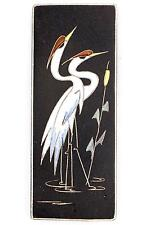 A vintage Ruscha wall plaque. Heron design. West German pottery. Signed. 60's 70