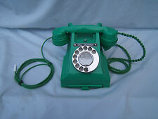 Green Jade original GPO Bakelite telephone 312F not painted or a copy working P2