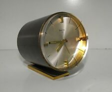 "Space Age Rare 70s Swiza Quality Swiss Made 8 Day Windup Alarm Clock In ""GWO"""