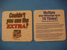 Beer Breweriana Coaster: 2000 New York Lottery ~ Quick Draw Extra ~ Win 10 Times