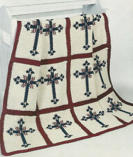 Crochet Pattern ~ BLESSED MOMENTS CROSS AFGHAN ~ Instructions