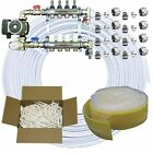 Warm Water Underfloor Heating Kit - 80m2 - 4 Port / Loop - 400m Pipe - DIY