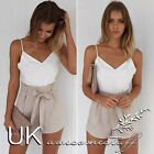 UK Womens Sexy Celeb Mini Playsuit Ladies Jumpsuit Summer Shorts Beach Sun Dress