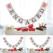 Engaged Banner Wedding Bridal Shower Hen Party Bunting Garland Hanging Decorate