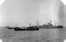 6x4 Gloss Photo wwAD1 Normandy Naval Photo USS Ancon